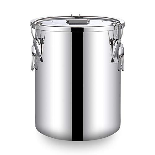 Lata de leche de acero inoxidable 304, cubo de vino, cubo de aceite, jarra con tapa sellada resistente (tamaño: 16L)