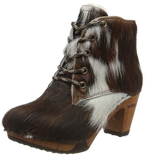 Woody Damen Betty Kurzschaft Stiefel, Mehrfarbig (Natur), 42