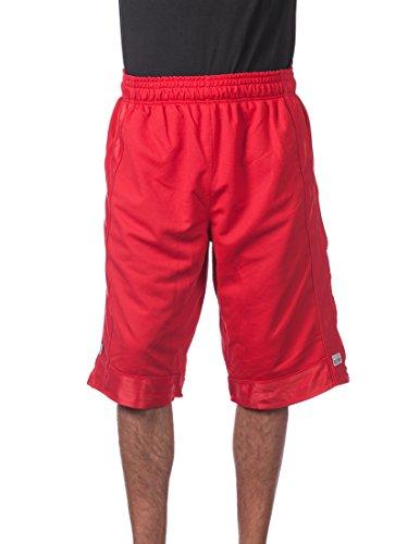 Pro Club Herren Basketball-Shorts aus schwerem Netzstoff -  Rot -  Klein