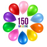 Prextex 150 Party Balloons 12 Inch 10 Assorted Rainbow Colors - Bulk Pack of Strong Latex Balloons for Party...