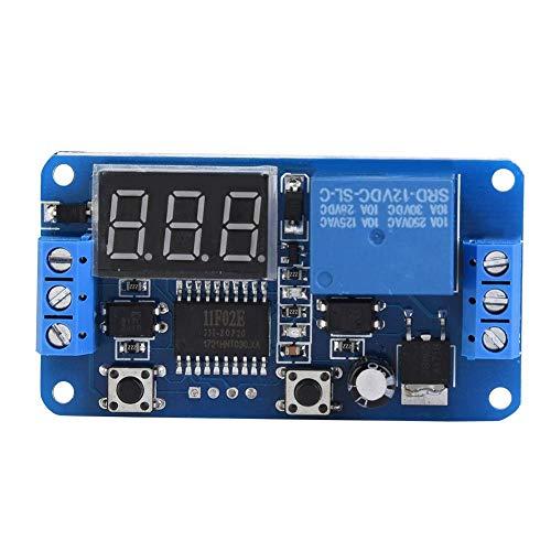 0-999 Sekunden Timing-Relais 0,1s 1s 60s Einstellbare Timing-Verzögerung des Timer-Relais-Moduls für Schaltstellen der Automatisierungssteuerung(12V)