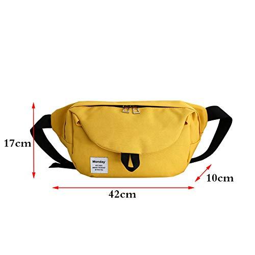 XINGYAO Sacs Bananes Sac de Taille Unisexe Fanny Pack Street Style Sacs de Ceinture Packs de Poitrine Grande capacité Banana Bag Hip Hop Package Oxford Cloth Bum Pack