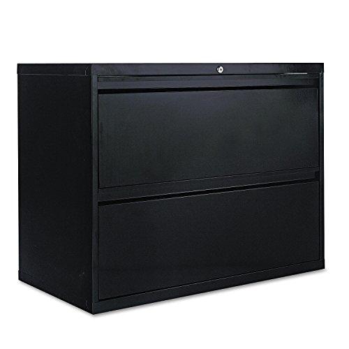 Alera LF3629BL Two-Drawer Lateral File Cabinet, 36w X 19-1/4d X 28-3/8h, Black