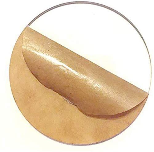 DSFHKUYB, Tablero de metacrilato de lámina acrílica Redonda Transparente, para Decoraciones, Manualidades, Publicidad, Grabado, señalización, 5 mm × 100 mm,Diameter: 13cm