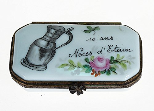 Porcelaine de Limoges - Limoges-Porzellan-Box Zinn-Hochzeit