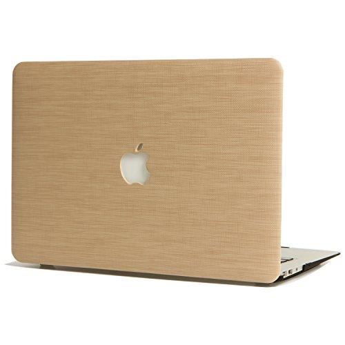 L2W Custodia per Apple MacBook PRO 15,4 Pollici (2015) Modello A1398 PC Portatili Accessori Plastica Rigide PU Pelle Protezioni Cover,Legno Stile ` Giallo