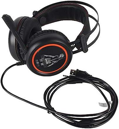 BFHCVDF Auriculares con Cable para juegos Auriculares USB con micrófono para computadora Naranja y Negro - Trova i prezzi più bassi