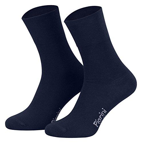 39-42 - 8 Paar Business Socken, Anzugsocken ohne Gummibund Baumwolle - Herren Damen - 8er Pack - marine