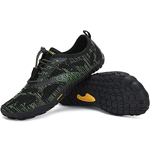 SAGUARO Zapatillas Minimalistas Hombre Mujer Zapatillas de Trail Respirables Zapatillas de Barefoot Ligera Escarpines de Agua Zapatos Running Stil: B Verde Gr.43