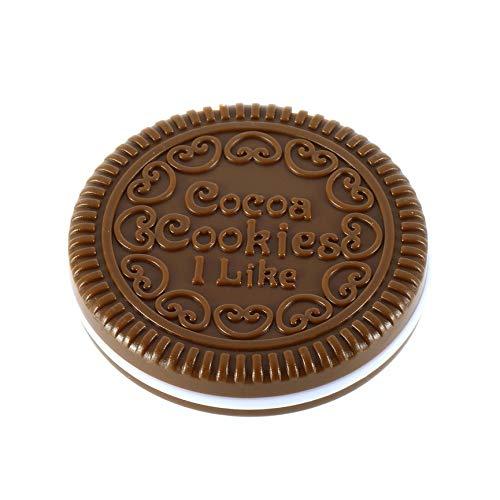 VCB Chocolat de Maquillage de Forme de Biscuit de Fille Mignonne de Maquillage cosmétique Miroir Peigne de Chocolat
