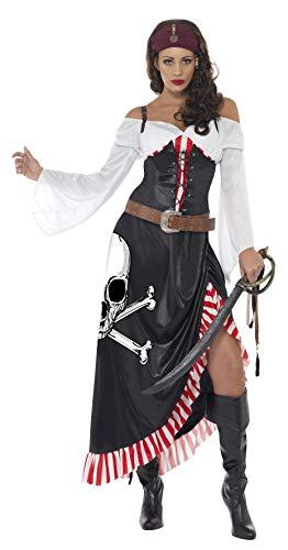 Smiffys Damen Piratin Kostüm, Oberteil, Rock und Gürtel, Größe: M, 38062