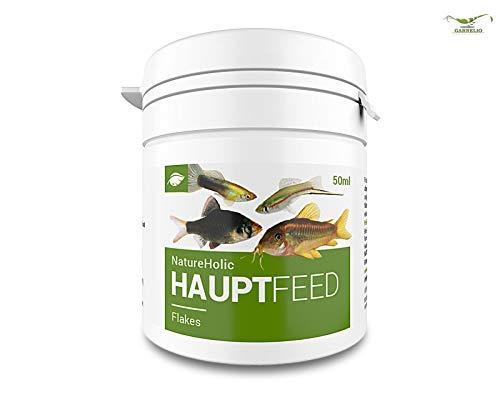 NatureHolic Hauptfeed Flocke - Zierfischhauptfutter – Haupt Futter für Fische im Aquarium – 50 ml
