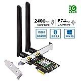 OKN Wi-Fi 6 PCIe 無線LANカード 2974Mbps 内蔵Intel AX200 WiFi 6モジュール 802.11AX PCI-Express 無線LANアダプタ Bluetooth 5.1対応