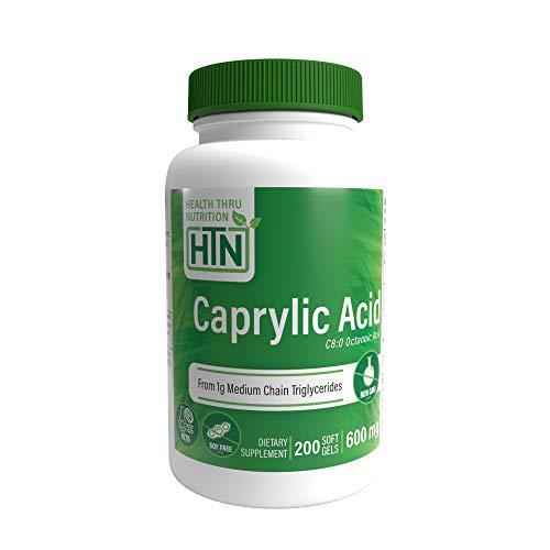 Caprylic Acid 600mg 200 Perlen Non-GMO