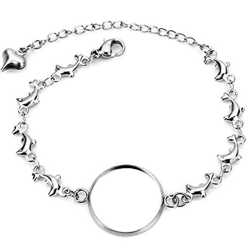 MURUI QA 2pcs 12/14/16/18/20mm 316 Bracelet en Acier Inoxydable Bracelet en Acier Inoxydable Travaux Vierges Réglage de la Lunette Cabochon Cameo Y902 (Size : 14mm)