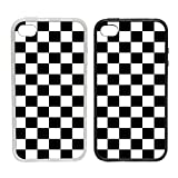 Toasted Merch iPhone 7+ Plus Chequerboard - Black | Clip on