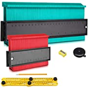 AMBOTHER Shape Contour Gauge Duplicator 5-inch and 10-inch Profile Gauge Contour Duplications Copy Tool Measuring Ruler Set with Multi Accessories for Corners and Contoured 6 Packs Upgrade