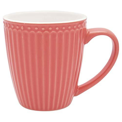 GreenGate - Becher, Kaffeebecher, Mug - Alice - Porzellan - Coral - 250 ml