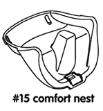 Replacement Part for High Chair Bloom Fresco - Booster Seat Black - #15 Comfort Nest Black