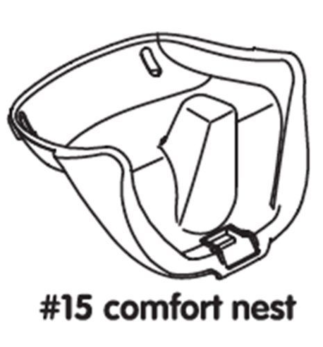 Pièce de rechange pour chaise haute Rehausseur Bloom Fresco–Noir–# 15Comfort Tour Black