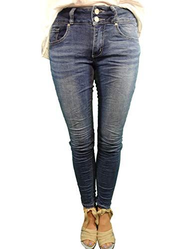 Buena Vista Tummyless Stretch Jeans | Schlankmachende Shaping Denim Hose | Figurformend für alle Größen | Lange Jeanshose Middle Blue S