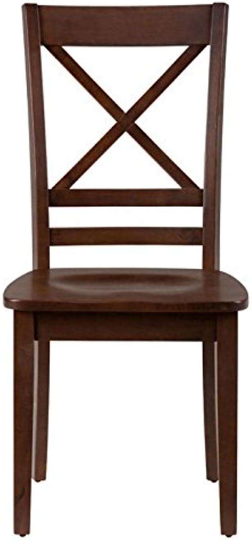 Jofran 452-806KD Simplicity  X  Back Chair, Caramel (Set of 2)