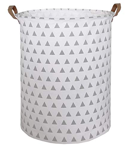 CLOCOR Collapsible Round Storage Bin/Large Storage Basket/Clothes Laundry Hamper/Toy Books Holder (Triangle)