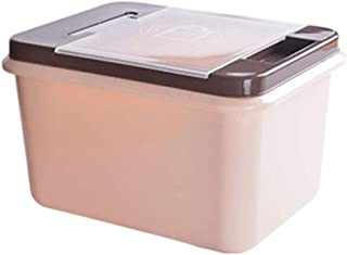Clamshell Storage Box Large Plastic Storage Box Multi-Size Color Can Choose Large Capacity Storage Storage Box (Color : Brown, Size : L)