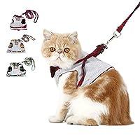 ペット ハーネス リード セット 犬用 ベスト 牽引ロープ 可愛い 首輪 ペット用品 中小型犬 猫 散歩 お出かけ用 ワンちゃん 簡単脱着式