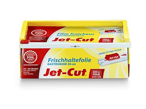 Jet-Cut Film de plástico para cortar Jet-Cut, hostelería 30cm x 600m, PVC transparente 2255 g