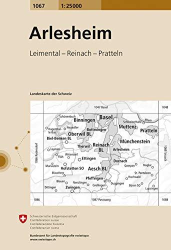 1067 Arlesheim: Leimental - Reinach - Pratteln (Landeskarte 1:25 000)