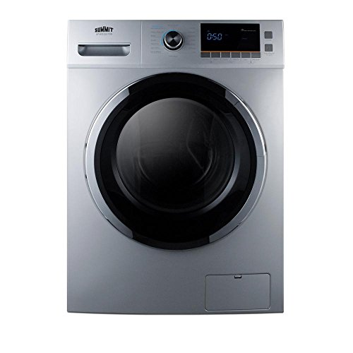 Summit SPWD2201SS 24' Washer/Dryer Combo with 2 cu. ft. Capacity Stainless Steel Drum 1200 RPM Delay...