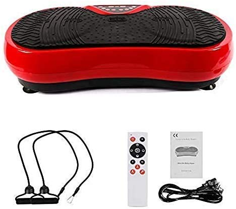 Best Goods Fitness Ultra Slim Power Vibration Plate Fitness Dual Motor 3D Vibration Plate Extra Large Non-Slip Surface Fat Removal and Body Shaping at Home (Red2)