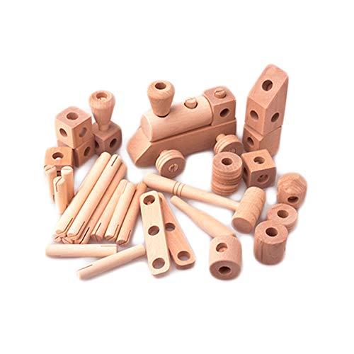 酒井産業 郡上八幡のトンカチ細工(46ピース) 木製おもちゃ 対象年齢3才〜