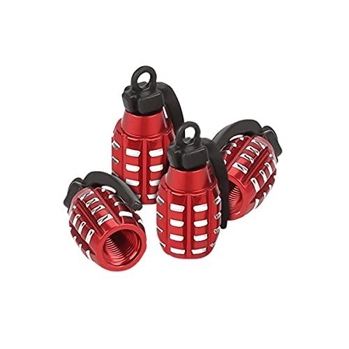 Aluminum Valve Stem Caps, 4 Pcs Hand Grenade Style Car Wheel Tire Valve Caps for...