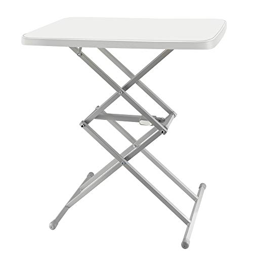 SOUNDANCE Adjustable Folding Table, Lightweight and Portable TV Tray, Sturdy Dinner Tables for...
