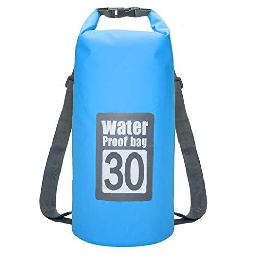 NaiCasy Bolsa Impermeable seco Piscina Mochila 30L con Correa Ajustable para el Kayak canotaje Deriva Blue Sky