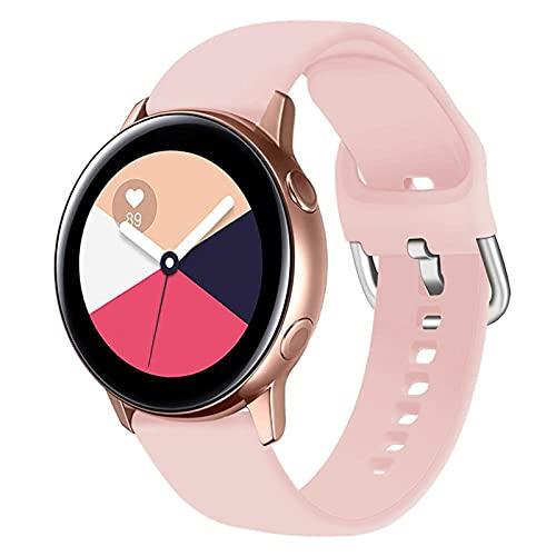 LLKHFA Correa de silicona para reloj Samsung Galaxy Watch 42 mm Active2 40/44 mm suave para reloj deportivo Samsung S2 Classic (color de la correa: color 5, ancho de la correa: para Amazfit Bip)