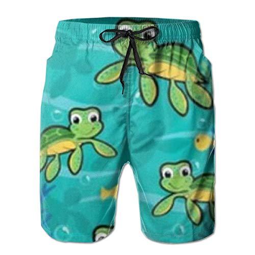 OKIJH Herren Badebekleidung Shorts Höschen Strandhose Fünf-Viertel-Hose Men's Swim Trunks Hawaiian Baby Turtle Holiday Beach Board Shorts