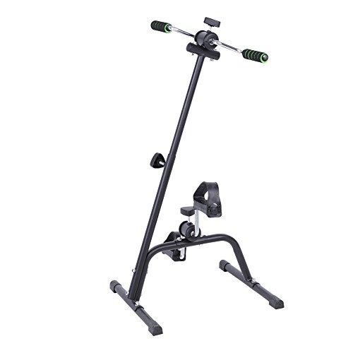 AYNEFY Mini Cyclette di Recupero, Cyclette Esercizio Braccia E Le Gambe Mini Cyclette pedaliera per Esercizi a casa, Bicicletta Allenamento per Anziani Disabili, Altezza Regolabile 73-96 cm