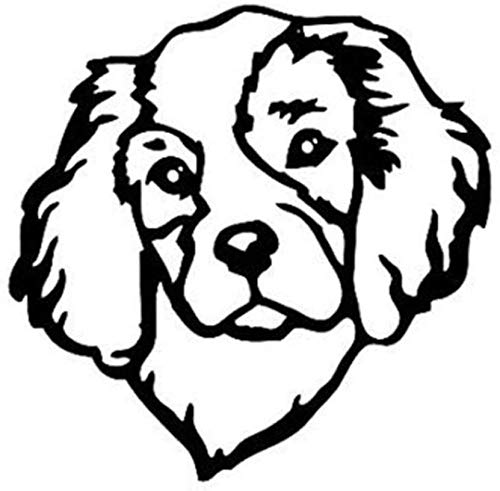 WYG Pegatinas para coche, 2 unidades, diseño de perro Cavalier Hound