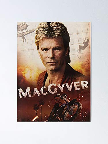MCTEL Macgyver Poster 11.7x16.5 Inch Frame Board for Office Decor, Best Gift Dad Mom Grandmother and Your Friends