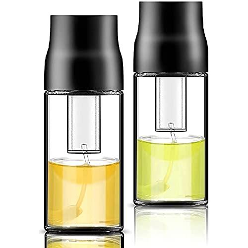 Camisin Pulverizador de aceite pulverizador de aceite para cocinar botella de aceite de presión de aire dispensador de aceite portátil para barbacoa 2 piezas