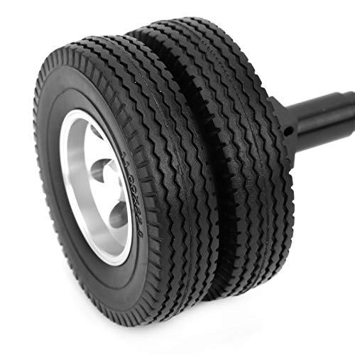 LZKW Neumático de Eje Trasero RC, Neumático de Goma Trasero Alta Capacidad de Carga Alta Resistencia al Desgaste para 1/14 Modelo de Coche RC para RC Hobby Car