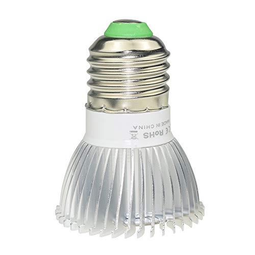 Singeru Pflanzenlampe E27 E14 GU10 LED 18W Pflanzenleuchte Vollspektrum Pflanzenlicht Birne Led Grow Lamp für Gewächshaus Zimmerpflanzen, Blüte, Blumen und Gemüse (E27)