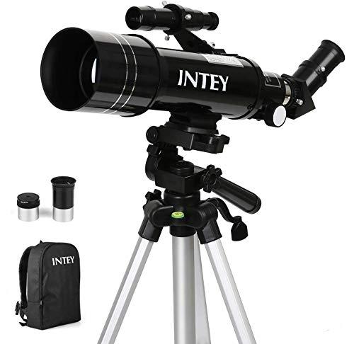 INTEY Astronomical Telescope Achromat Eyepiece, Refraction Telescope, Adjustable Aluminum Tripod...