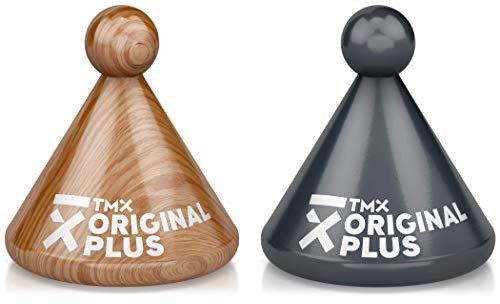 TMX Trigger Original Plus Set, Massagegeräte zur Triggerpunkt-Behandlung, punktuelle Akupressur, Muskelverhärtungen selbst lösen, Faszien triggern, aus Buchenholz, natur & anthrazit