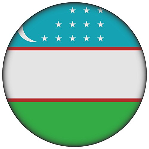 FanShirts4u Button/Badge/Pin - I Love USBEKISTAN Fahne Flagge (Usbekistan/Flagge)