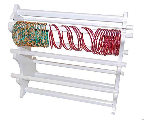 Armreif weiß Ständer Armband Halterung zum Aufhängen Schmuck Display Choorian Aufbewahrung weiß