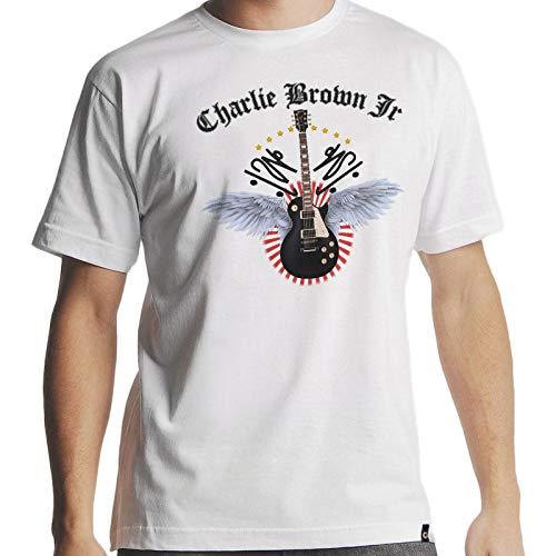 Camiseta Charlie Brown Jr Imunidade Musical Masc. Branca Tamanho:P;Cor:Branco